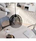 Luster s tekstilnim kabelom, Ghostbell XL kavez sjenilom i metalnim detaljima - Proizvedeno u Italiji