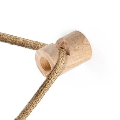 """Decentralizator, drveni stropni ili zidni """"V"""" držač za tekstilni kabel"""