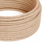 Okrugli tekstilni električni kabel, prirodna juta, RN06