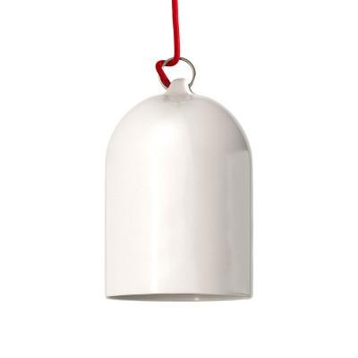 Visilica s tekstilnim kabelom i Mini Bell XS zvonom, keramičkim sjenilom - Proizvedeno u Italiji