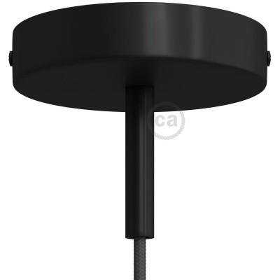 Metalna rozeta sa stezačem kabela duljine 7 cm i priborom