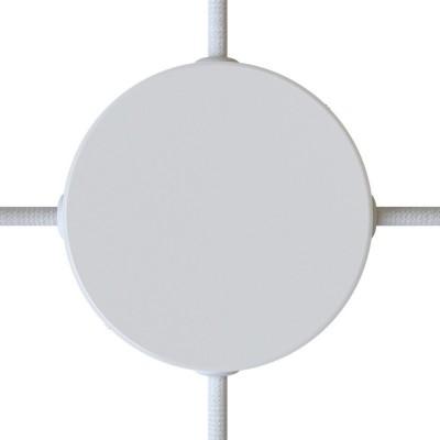 Metalna rozeta s 4 bočne rupe i priborom za montažu (razvodna kutija)