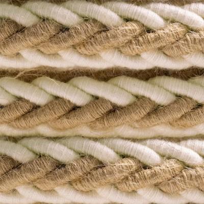 2XL pleteni mornarski električni kabel od jute i prirodnog pamuka, 2x0.75. Promjera 24mm.