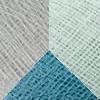 Svjetlo plavi poliester - Denim - Biserno siva